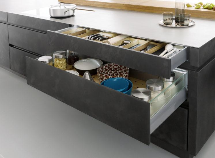 modele cuisine style moderne concrete a